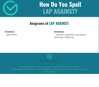 Correct spelling for lap against
