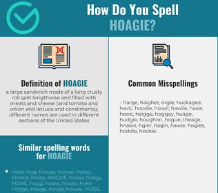 Correct spelling for hoagie