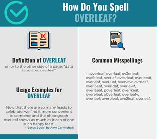 Correct spelling for overleaf