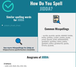 Correct spelling for jidda