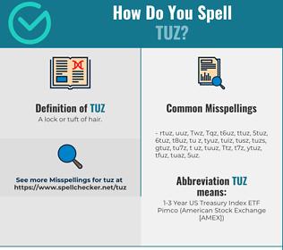 Correct spelling for Tuz