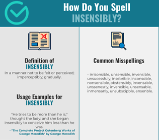 Correct spelling for insensibly