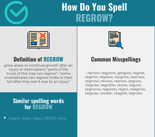 Correct spelling for regrow