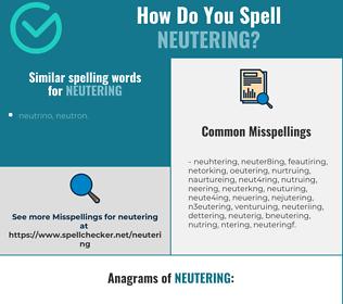 Correct spelling for neutering