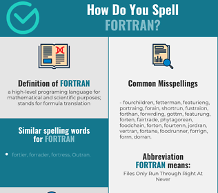 Correct spelling for fortran