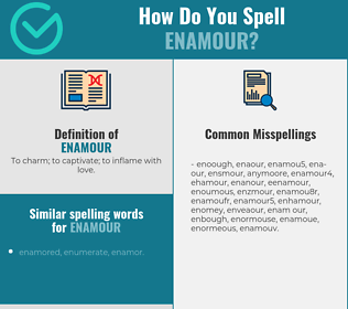 Correct spelling for enamour
