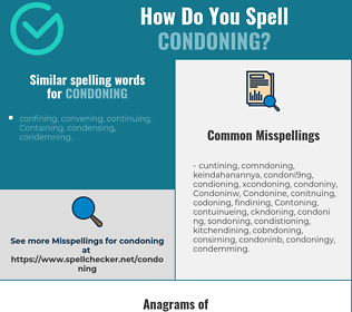 Correct spelling for Condoning