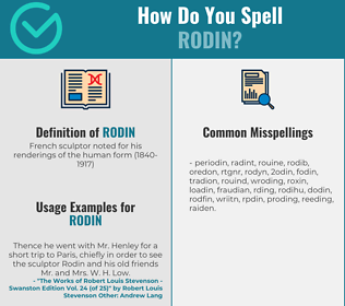 Correct spelling for rodin