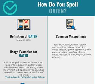 Correct spelling for oaten