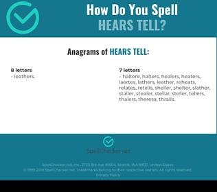 Correct spelling for hears tell