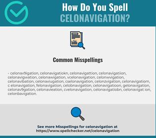 Correct spelling for celonavigation