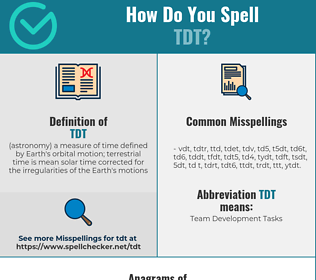 Correct spelling for tdt