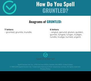 Correct spelling for gruntled