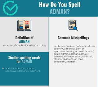 Correct spelling for adman