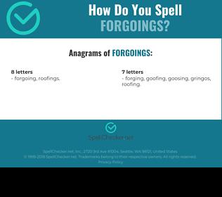 Correct spelling for forgoings