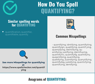 Correct spelling for quantifying