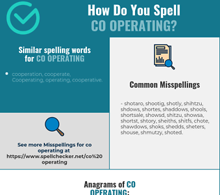 Correct spelling for co operating