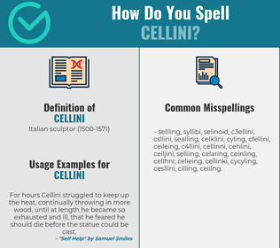 Correct spelling for cellini