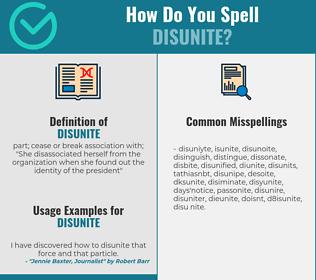 Correct spelling for disunite