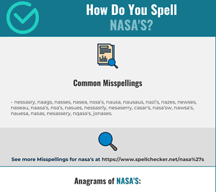 Correct spelling for NASA'S