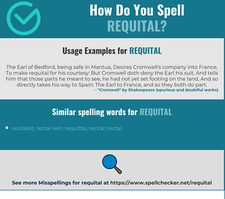 Correct spelling for requital