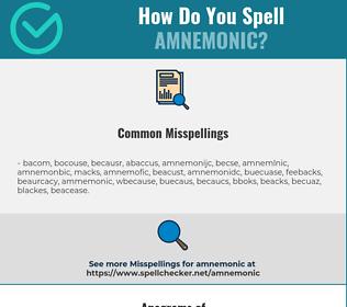 Correct spelling for amnemonic