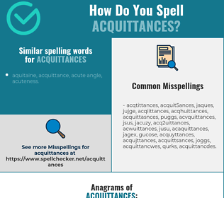 Correct spelling for acquittances