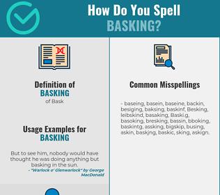 Correct spelling for Basking