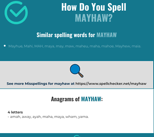 Correct spelling for mayhaw