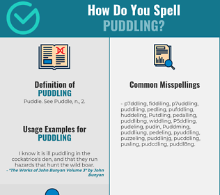 Correct spelling for Puddling