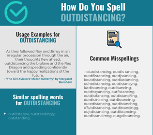 Correct spelling for outdistancing