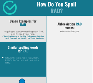 Correct spelling for rad