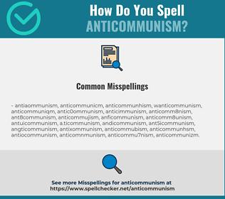 Correct spelling for anticommunism
