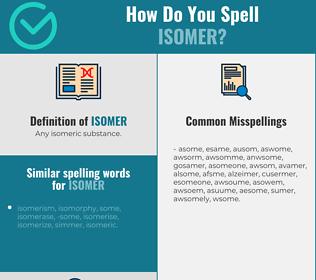 Correct spelling for isomer