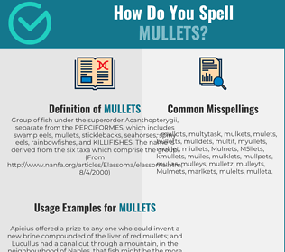 Correct spelling for Mullets