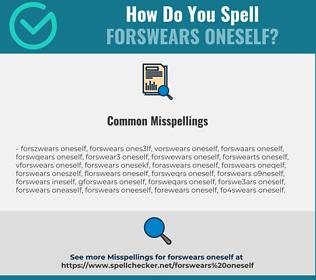 Correct spelling for forswears oneself