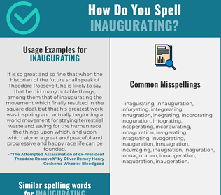 Correct spelling for Inaugurating