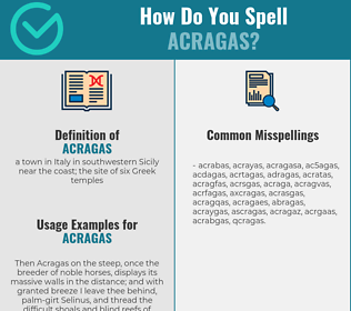 Correct spelling for acragas