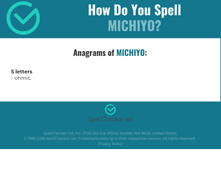 Correct spelling for Michiyo