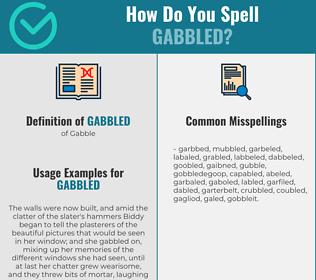 Correct spelling for Gabbled