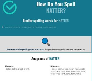 Correct spelling for natter