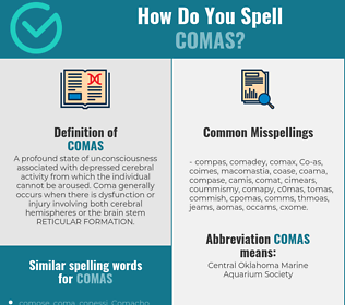 Correct spelling for Comas