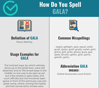 Correct spelling for gala