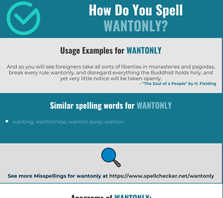 Correct spelling for wantonly