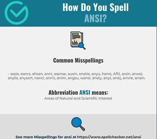 Correct spelling for ANSI