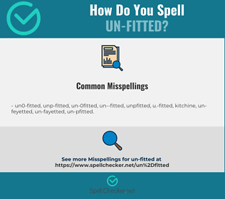 Correct spelling for un-fitted