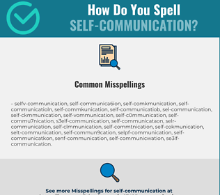 Correct spelling for self-communication