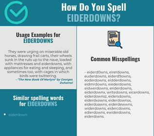 Correct spelling for eiderdowns