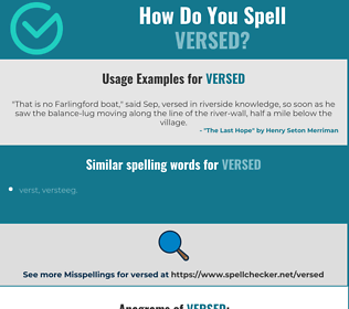 Correct spelling for versed