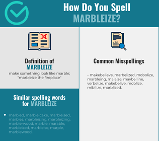 Correct spelling for marbleize